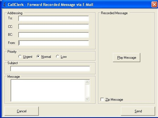 CallClerk - Forward Fax/Message via E-Mail