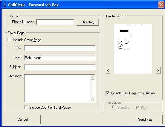 CallClerk - Forward Fax via Fax