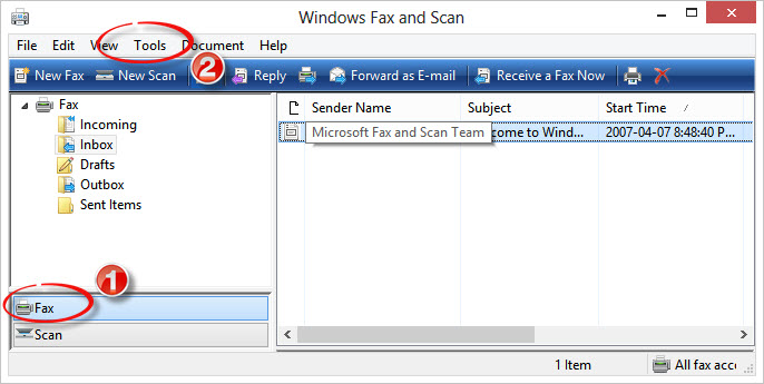 Windows Fax and Scan 1