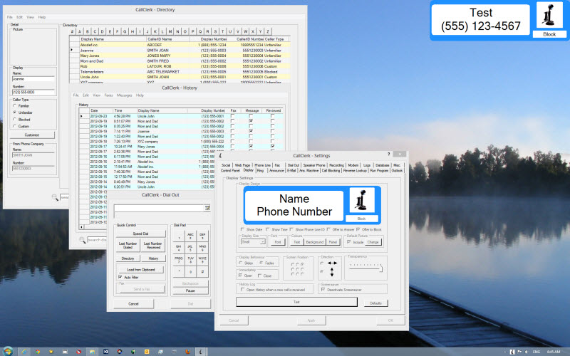 Click to view CallClerk Caller ID Software 3.4.11 screenshot